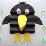 Ворона из бумаги
