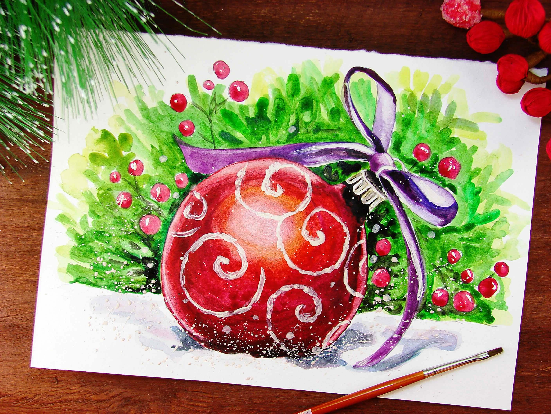как нарисовать новогодние открытки картинки почти всю жизнь