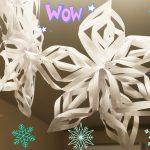 вырезание объемных снежинок